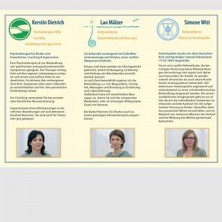 Werbeflyer für Naturheilpraxis Innenseite, Design von Marie du Vinage