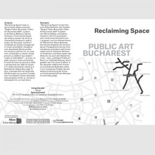 DVD-Cover Kunstprojekt mit Goethe Institut, Design von Marie du Vinage
