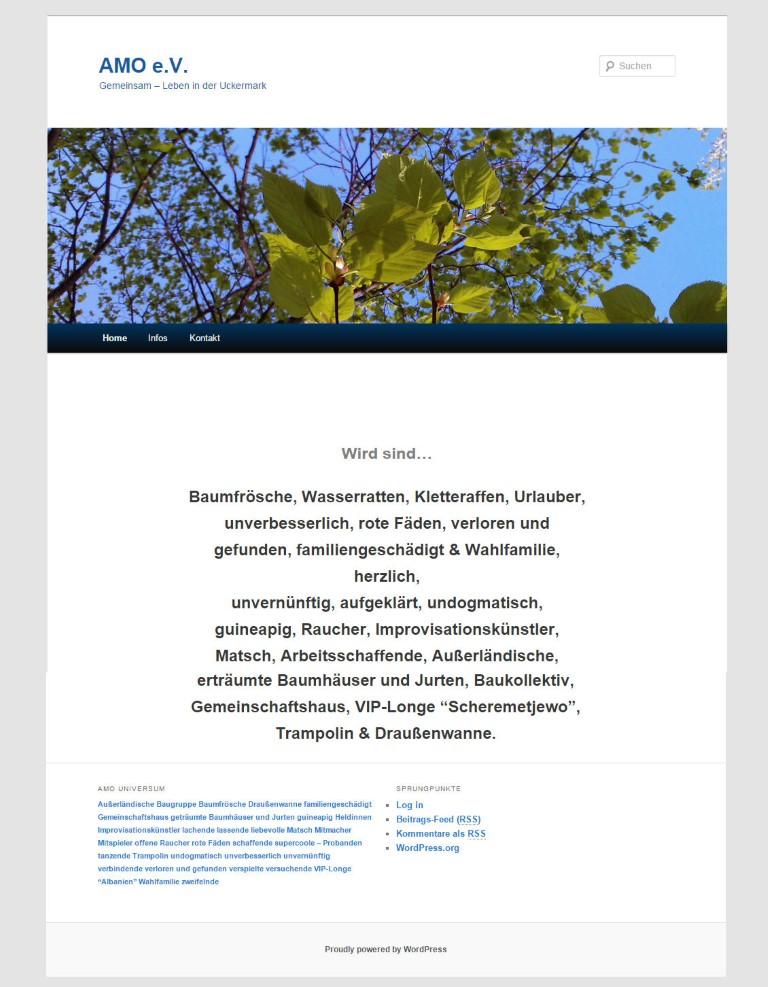 www.amo-klaushagen.de. Umsetzung und Design von Bert Gerlach