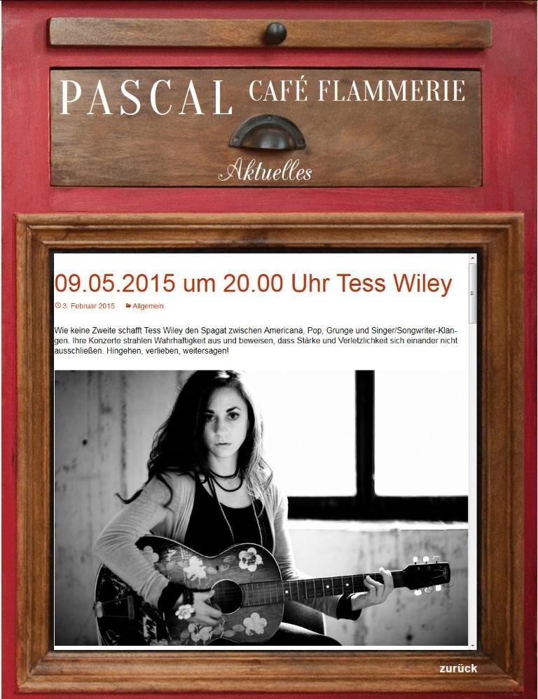 http://www.flammerie-pascal.de/aktuell/ Umsetzung mit benutzerfreundlichem integriertem Blog von Bert Gerlach, Design Marie du Vinage