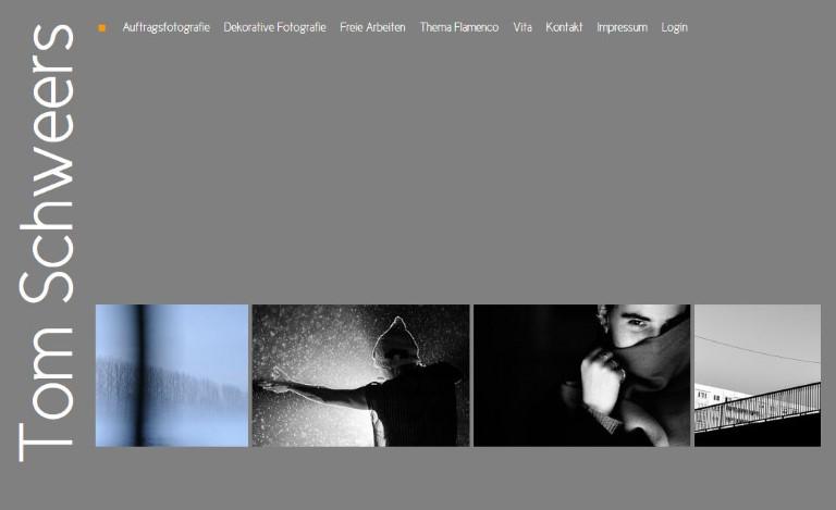 www.tomschweers.de Webdesign von Bert Gerlach. Umsetzung einer grafischen Vorlage